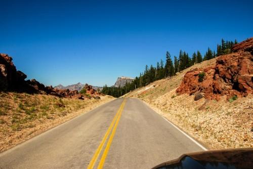 Ring road around Crater Lake
