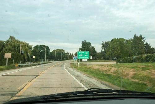 Entering New York, somewhere around Erie, Pa.