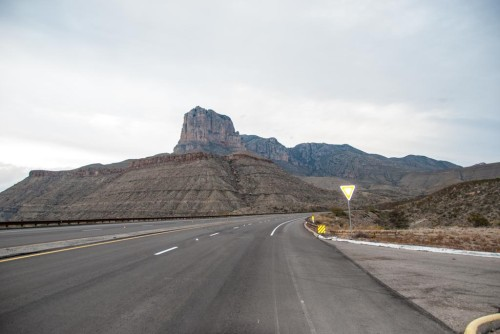 Entering Guadalupe Mountain N.P.