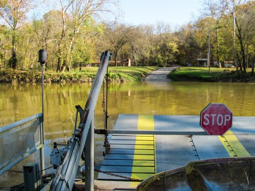 Ferry in Mammoth Cave N.P. in Kentucky