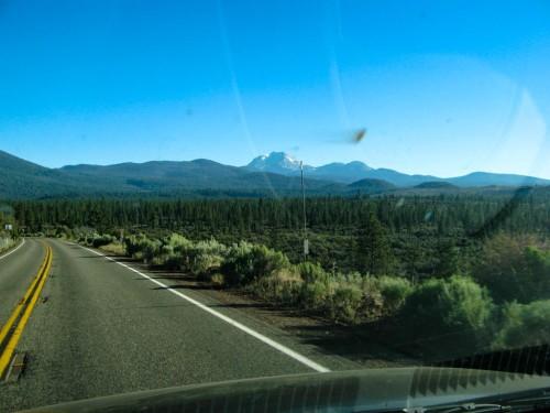 Approaching Mt. Lassen