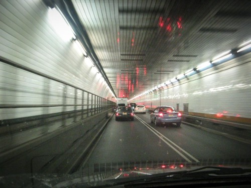 Inside the Holland Tunnel