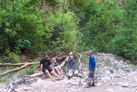 Dusk falls at Campsite 5.