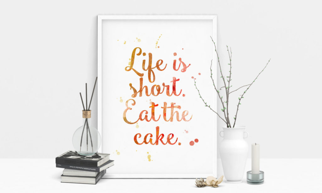 Eat the cake and don't worry about the points!