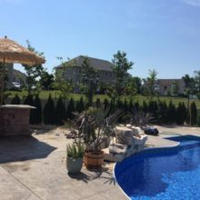 Stamped Concrete Pool Deck in Monmouth County NJ