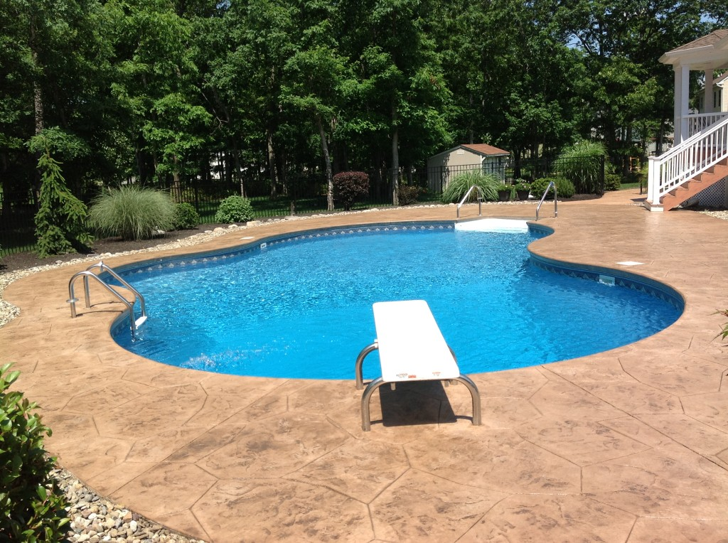 Stamped Concrete Pool Deck Marlboro NJ 07746