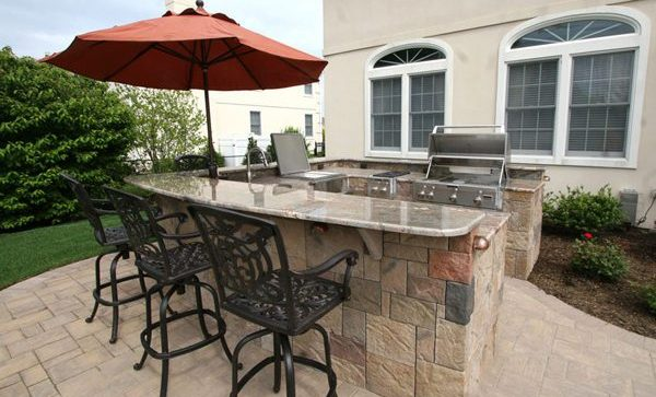 Custom Granite Countertops and Outdoor Kitchen in manalapan nj