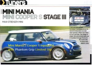 Mini Mania feature with Phantom Grip Mini Cooper S Limited Slip