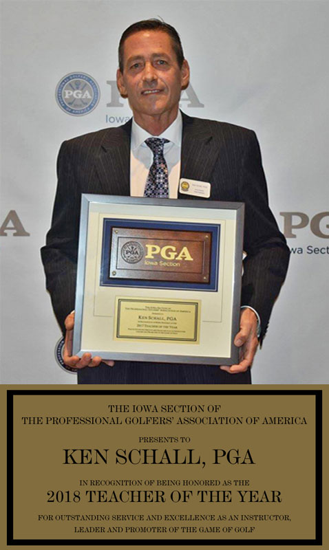 Ken Schall - 2018 Iowa PGA Teacher of the Year