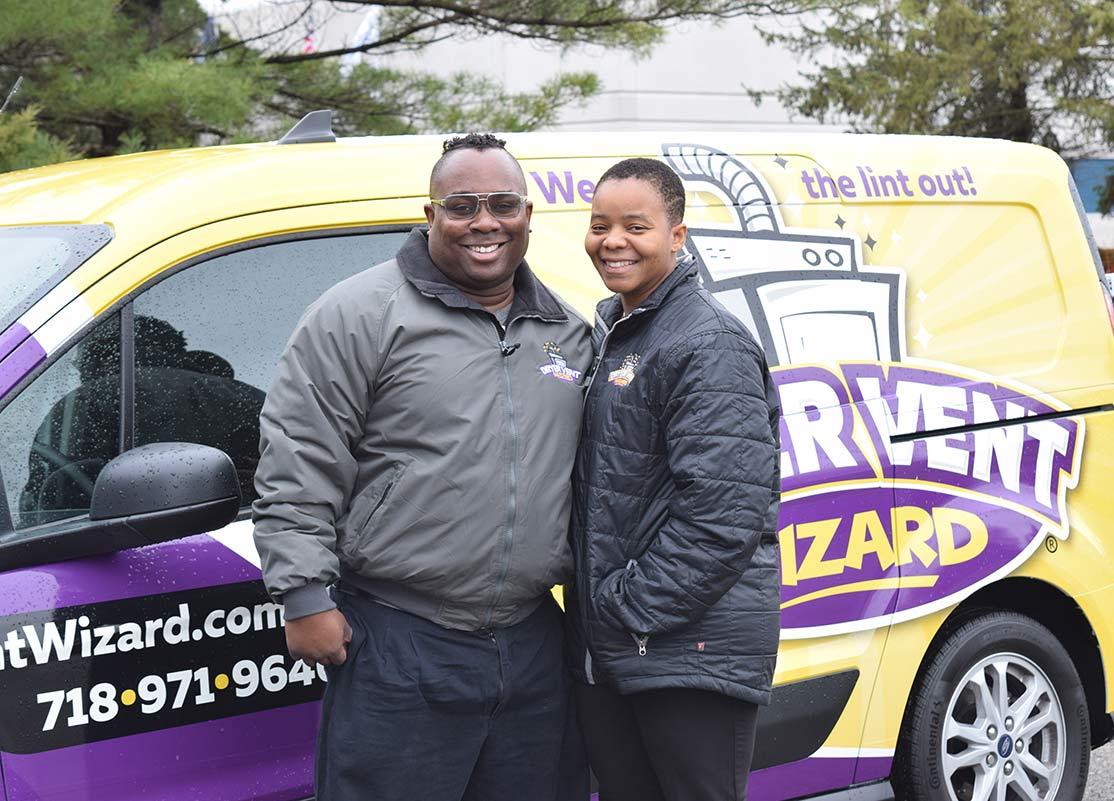 Image of Dryer Vent Wizard Owner and Van