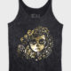Reza Black and Gold Day of the Dead Tank Top by MIGDALIA