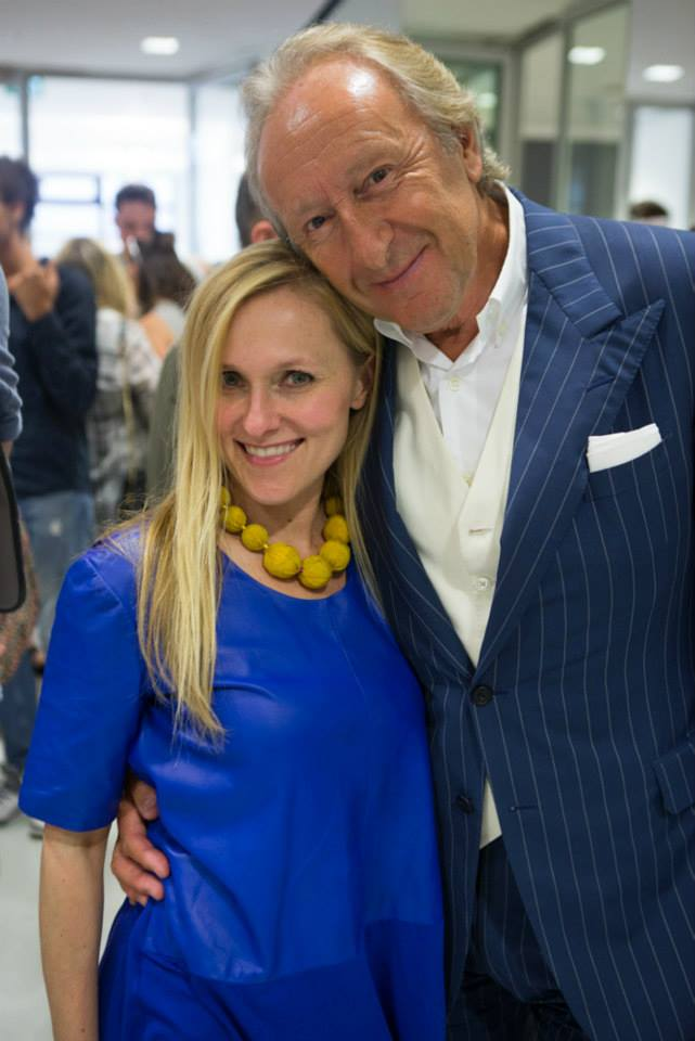 The Industry's Managing Director, Courtney Blackman with for British Fashion Council Chairman, Harold Tillman