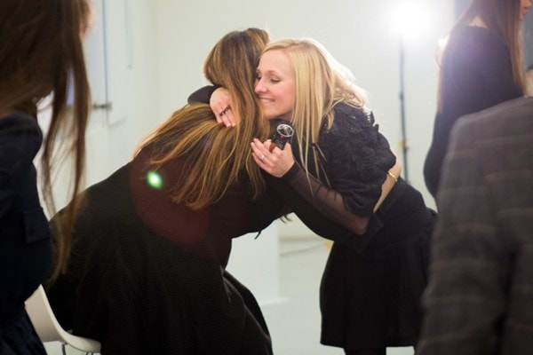 Mary Katrantzou and Courtney Blackman - pic by Fran-Hales