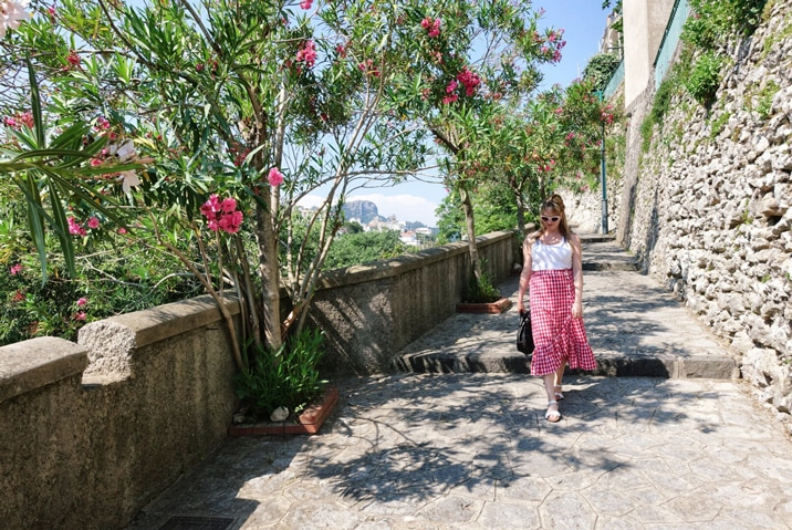 Claire Etchell, Naked PR Girl at Ravello, Italy