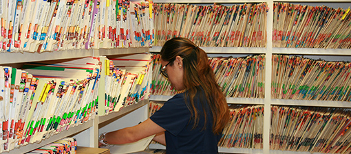 Patient files Chart Room at Sandy Springs Dentist