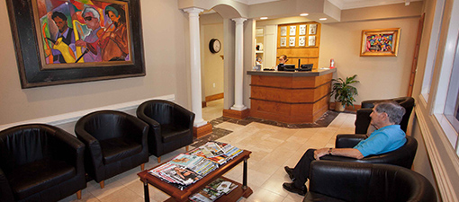 Reception Area at Sandy Springs Dentist