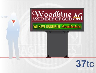 Affordable Signs Eagle Series 37 Tri- Color