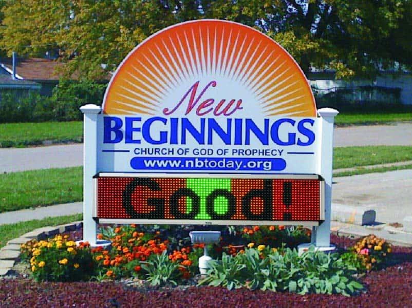 Church LED Signs New Beginnings Church Council Bluffs, IA