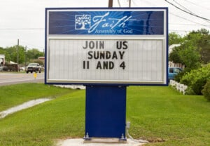 Changeable Church Sign Marquees