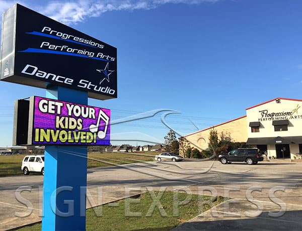 LED Sign Install: Progression Performing Arts, Houston, TX