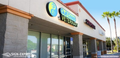 Gulf Coast Veterinary Spring Hill FL Channel Letter Sign