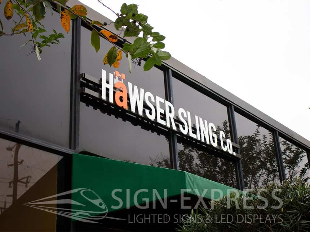 Hawser Sling of Houston Texas Custom Business Signs