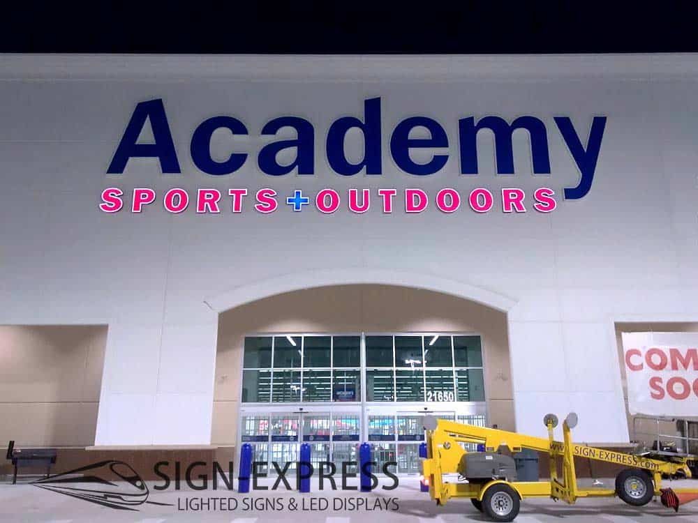Academy Sports of Spring Business Sign Installation