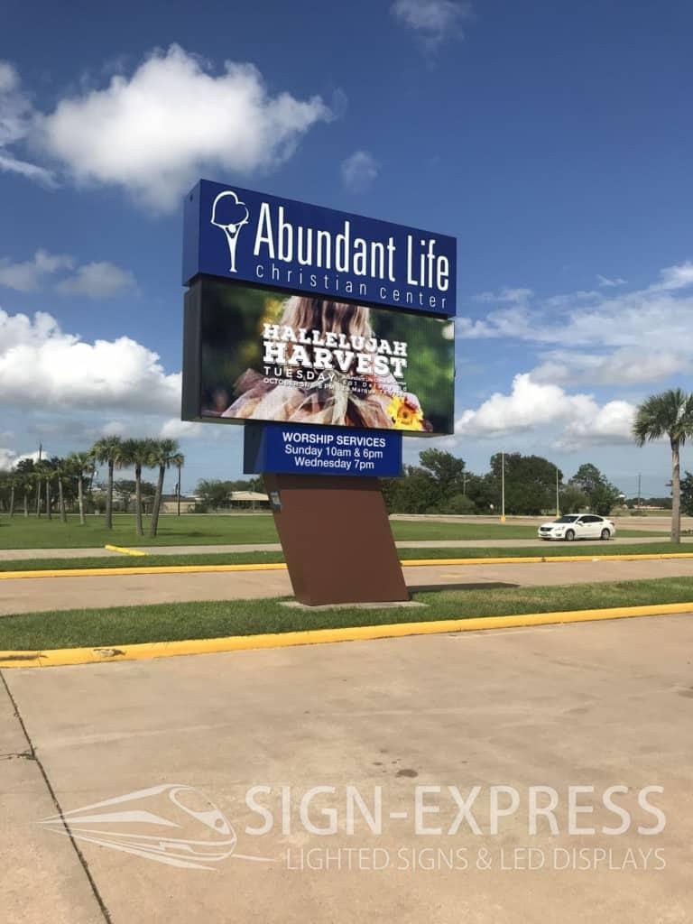 Abundant Life Christian Church LED Billboard Installation by Sign-Express