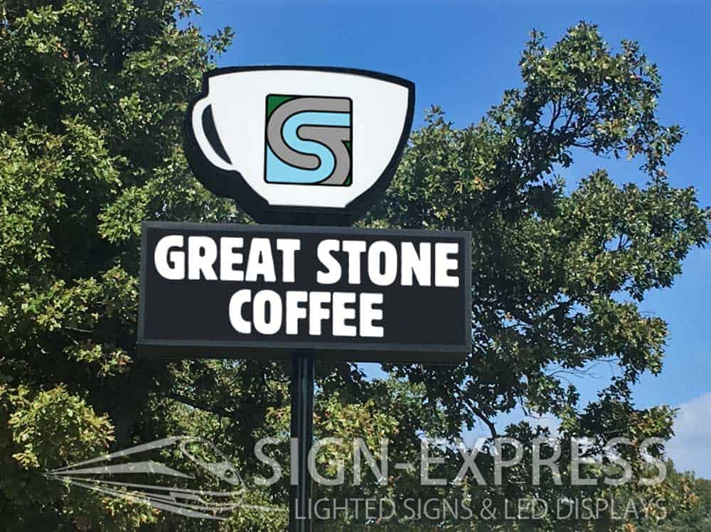 Great Stone Coffee Business Sign – Osage Beach, MO