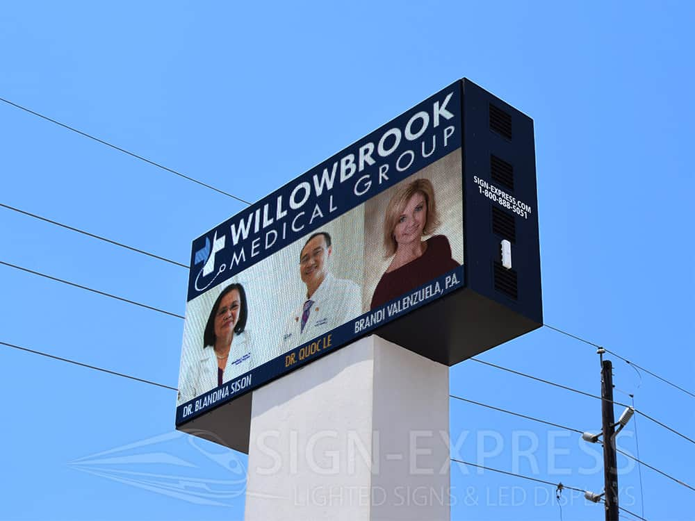 Willowbrook Medical Group LED Billboard by Sign-Express