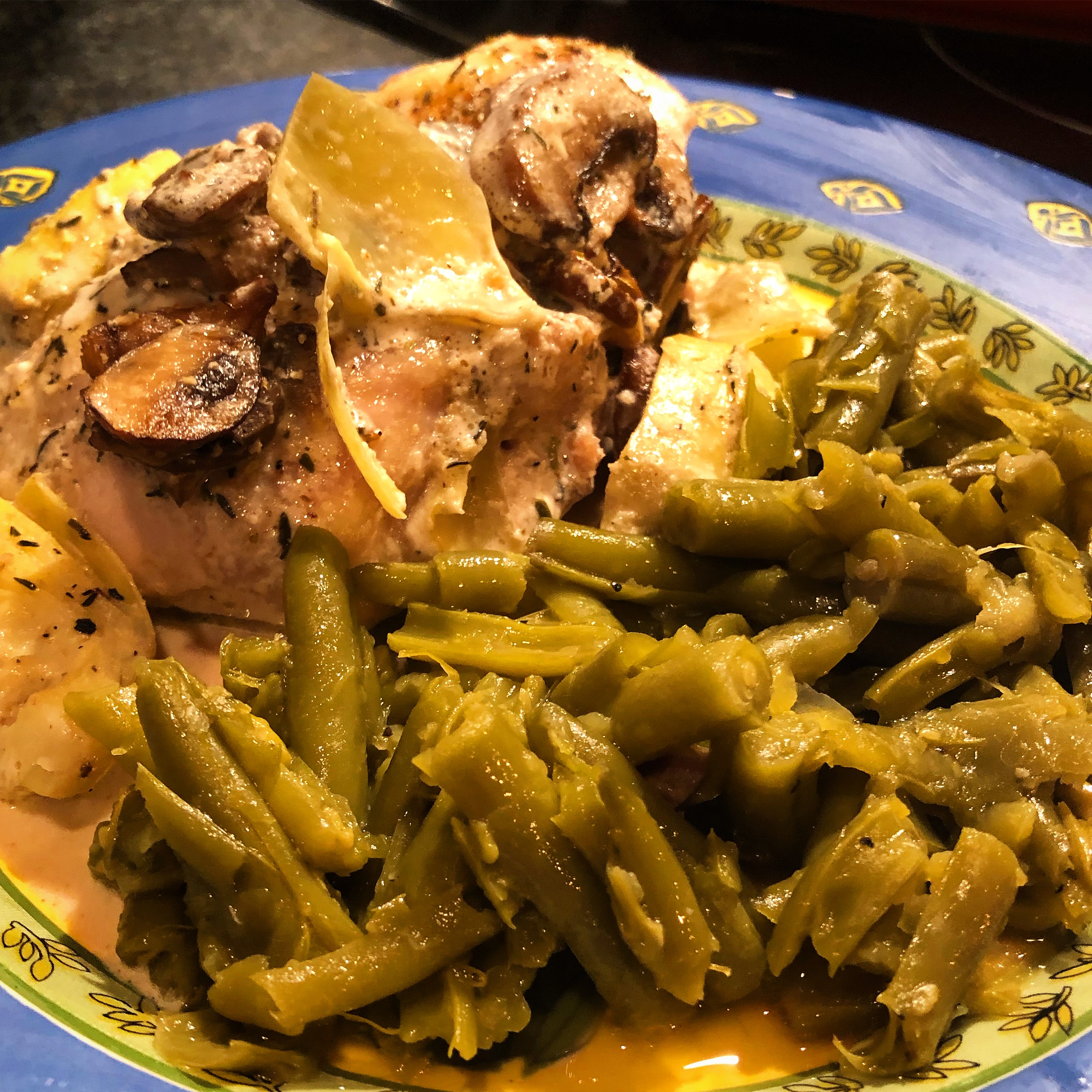 Baked Chickenwith Mushroom Asparagus Cream from Blue Dog Farm