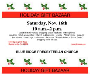 Buy Blue Dog Farm Soaps at the Blue Ridge Presbyterian Church