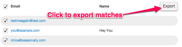 search and export