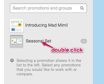 double click the name of a folder to edit the group name