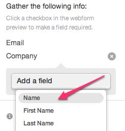 Adding fields to webforms