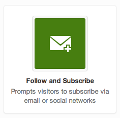 Follow and Subscribe for email marketing