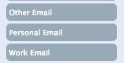 Nimble options for email choice to include