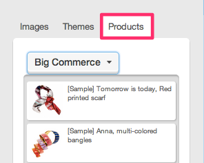 ecommerce store products in your emails!