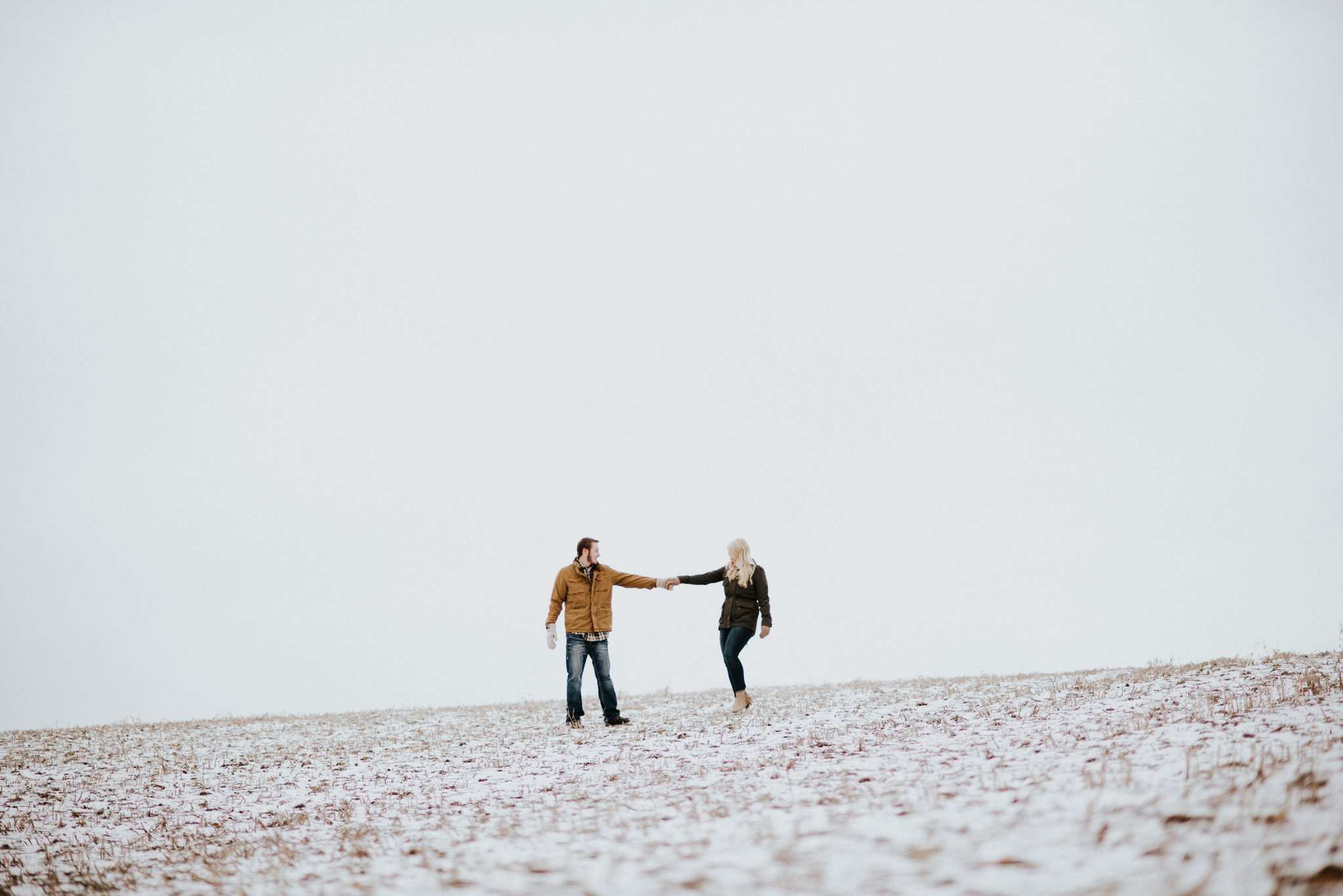 A Snowy Engagement Session