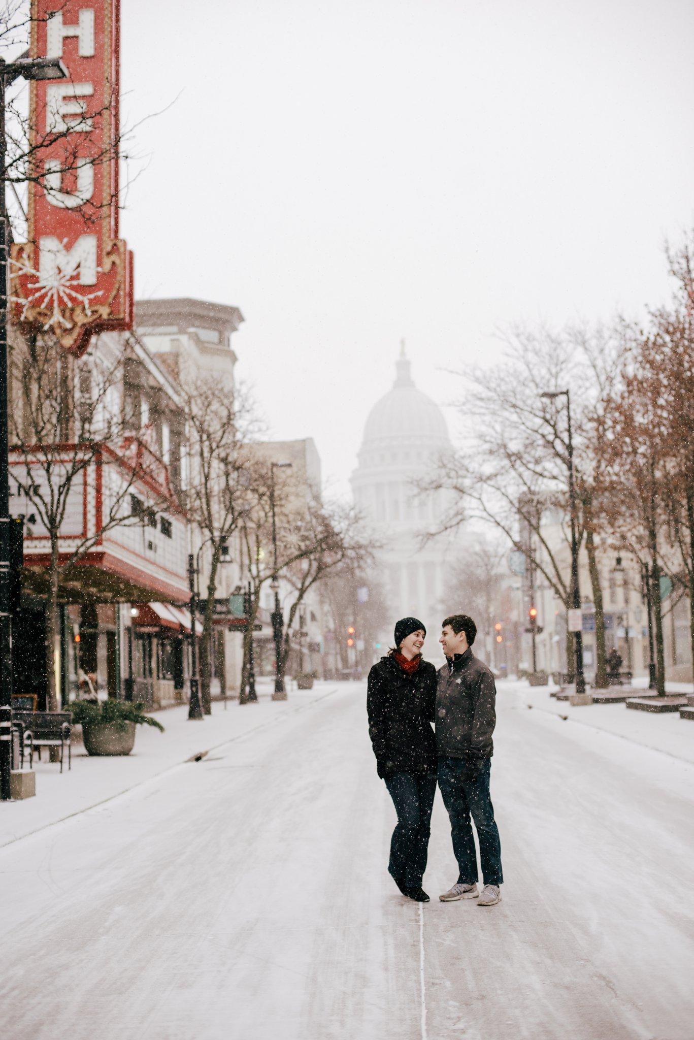 Madison Snowy Engagement