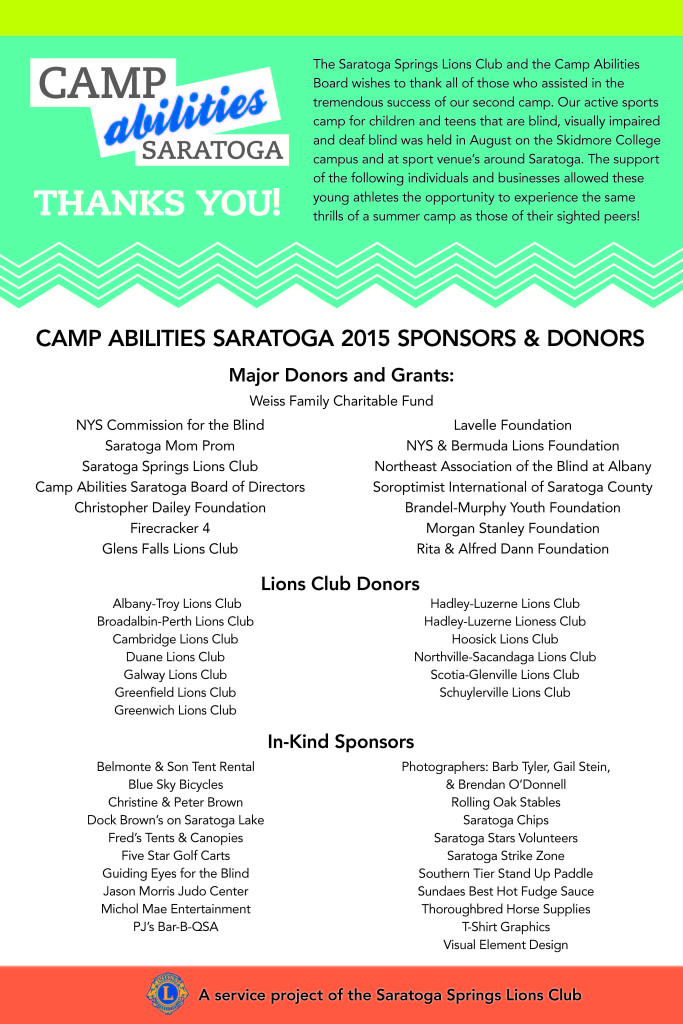 2015 Camp Supporters