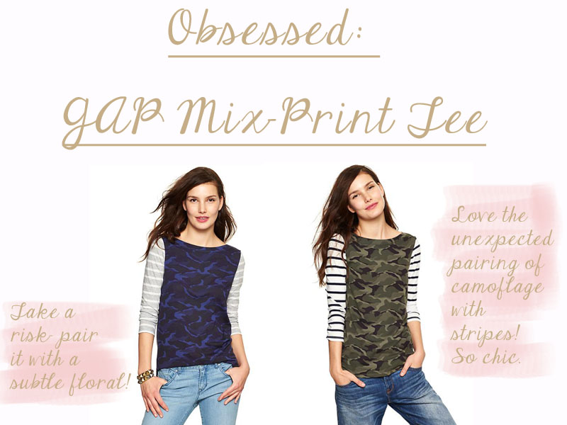 Obsessed Gap Mix Tee
