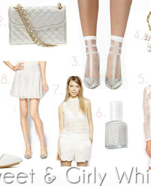 girly white pieces
