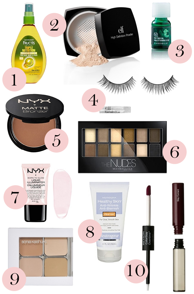 10 beauty products under 10