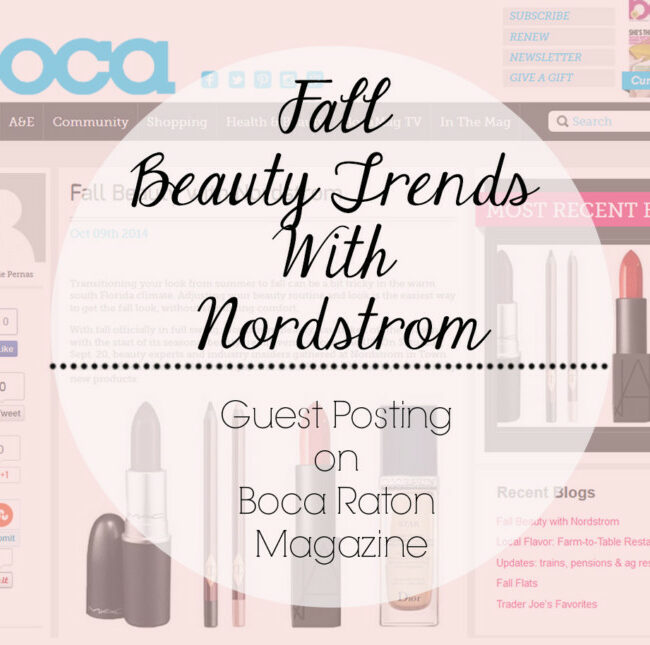 nordstrom beauty trend event