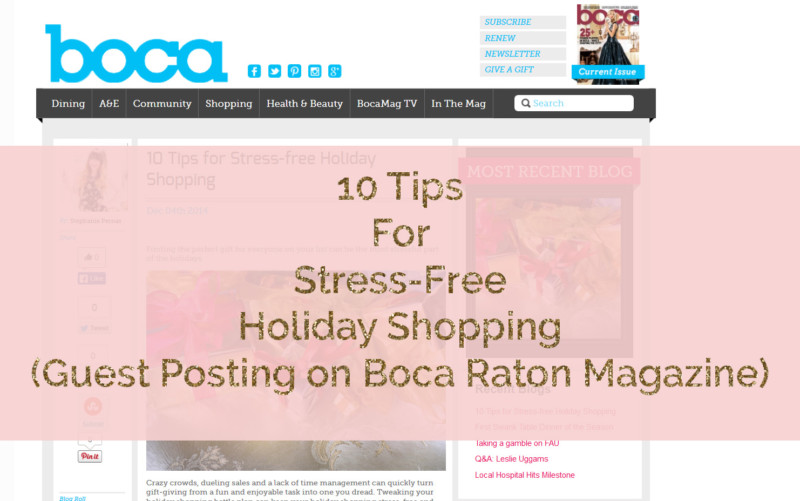 10 tips for stress free holiday shopping