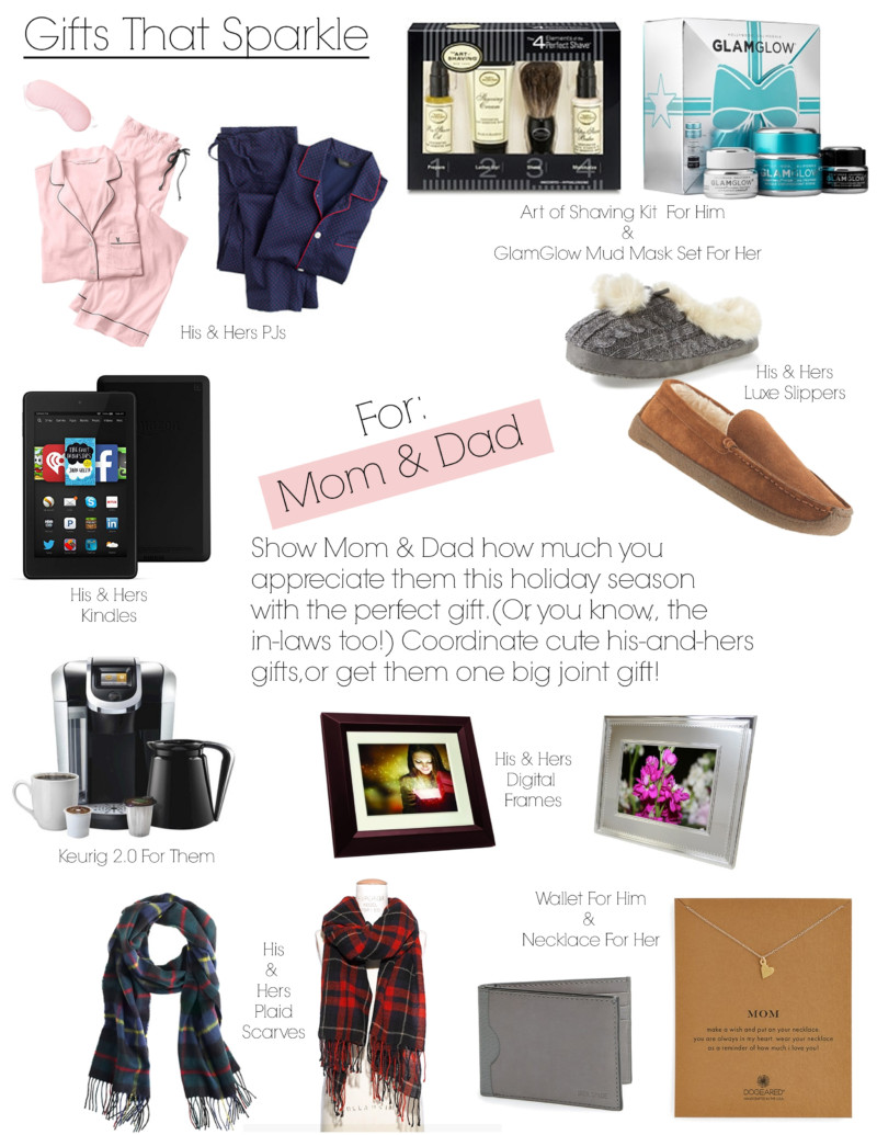 Gifts That Sparkle for Mom and Dad