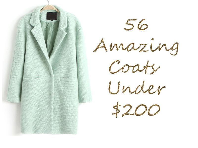56 amazing coats under $200