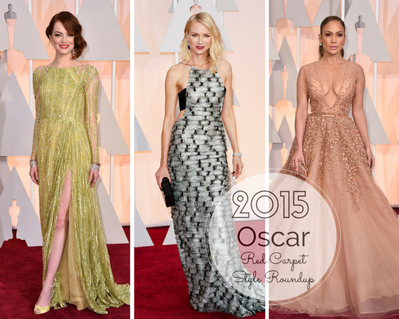 2015 oscar red carpet style roundup