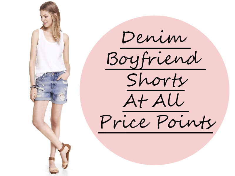 denim boyfriend shorts at all price points